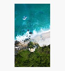 Aerial of the coastline in Tayrona National Park, Colombia Photographic Print