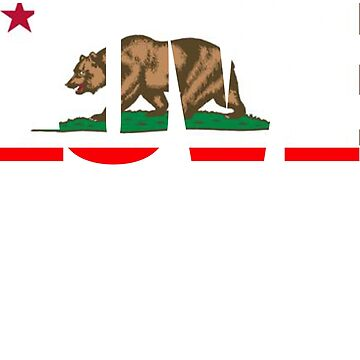 Love California. A California flag inspired design by teesogram