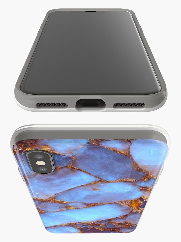Vista alternativa de Funda y vinilo para iPhone Cuarzo azul y oro