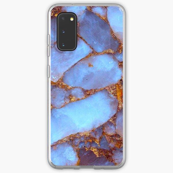 Blue Quartz and Gold Samsung Galaxy Soft Case