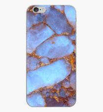 Blauer Quarz und Gold iPhone-Hülle & Cover