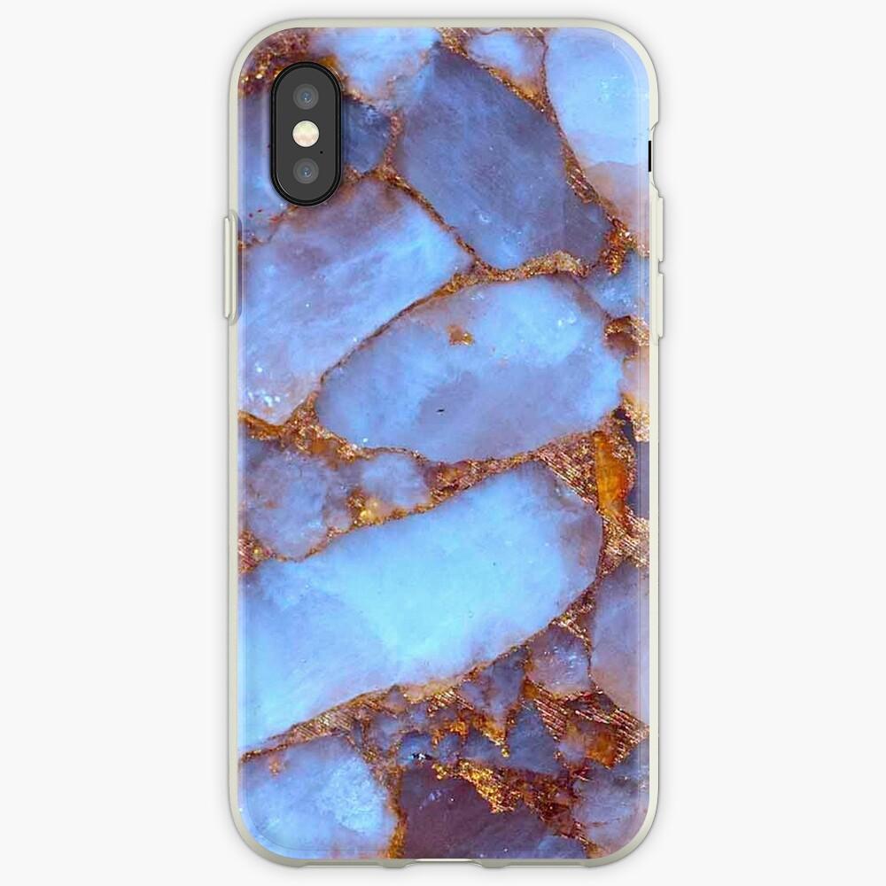 Cuarzo azul y oro Funda y vinilo para iPhone