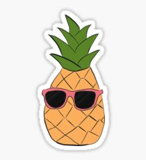 pineapple with sunglasses Sticker