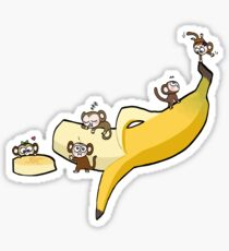 Banana Monkey Sticker