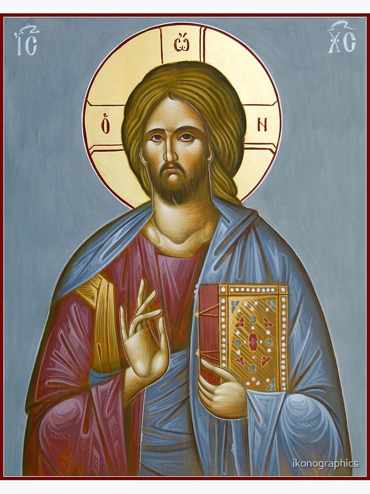 Christ Pantokrator by ikonographics