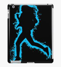 Silhouette fit lightblue and black silhouette iPad Case/Skin