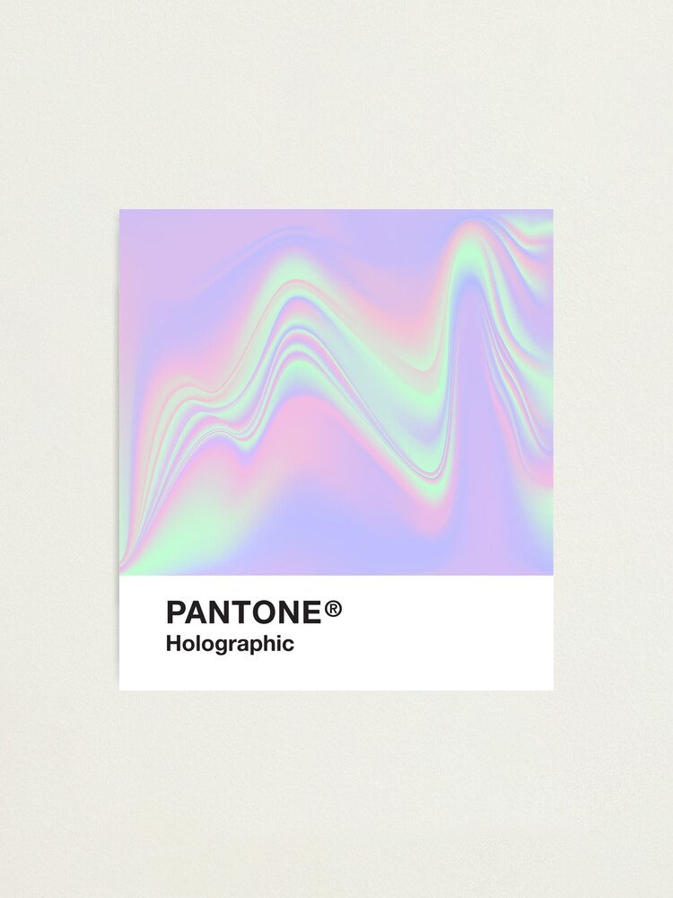 Alternate view of Pantone Holographic Series #9 Photographic Print