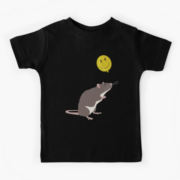 Rat with a Happy Face Balloon Kids T-Shirt