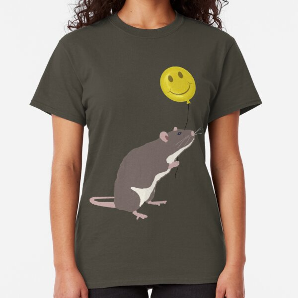 Rat with a Happy Face Balloon Classic T-Shirt