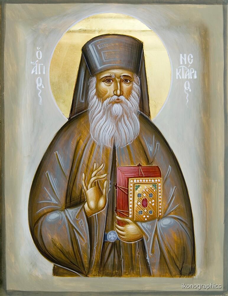 St Nektarios of Aigina by ikonographics