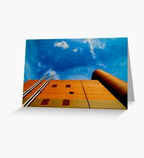 round and square architecture Greeting Card