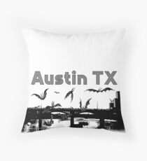 Austin TX Congress Bridge Throw Pillow