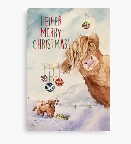 Heifer Merry Christmas! Canvas Print