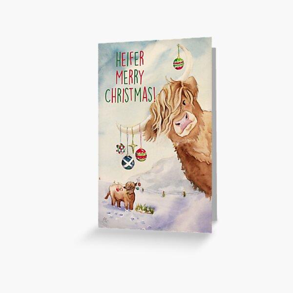 Heifer Merry Christmas! Greeting Card