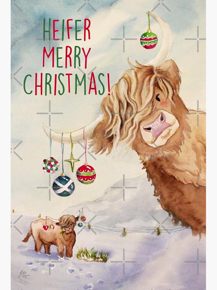 Heifer Merry Christmas! by Artsez