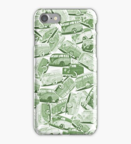 Camper Collage (Green) iPhone Case/Skin