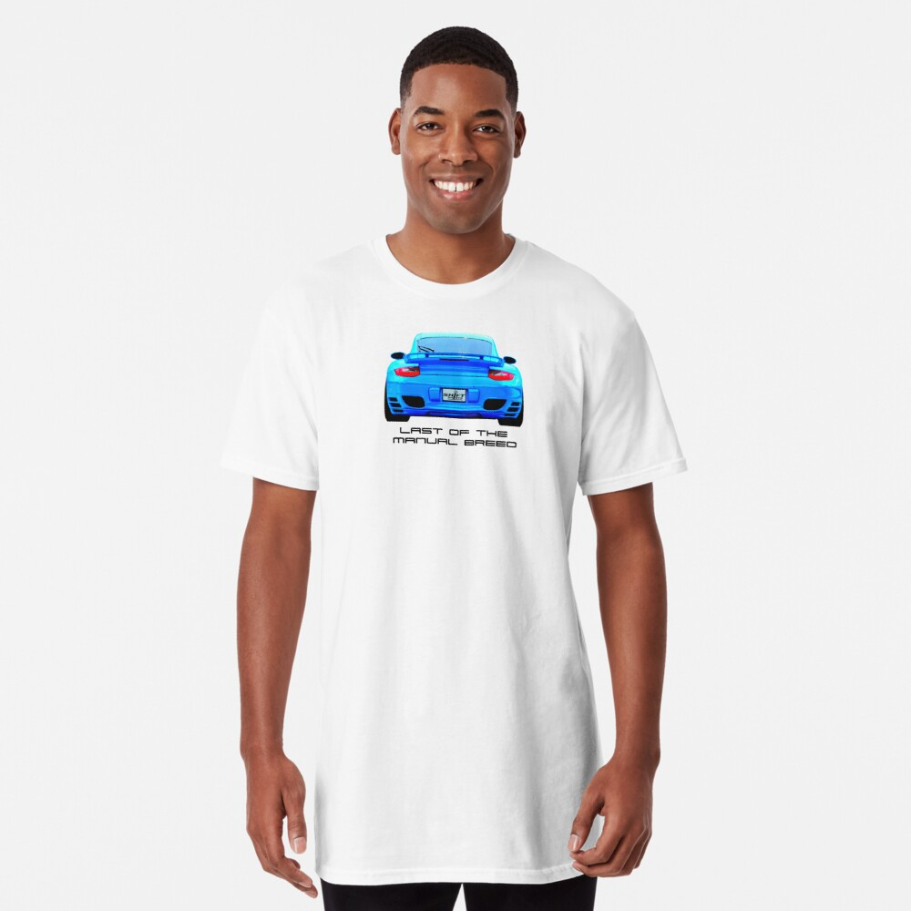 Last Manual - 997 Turbo (997.2) Inspired  Long T-Shirt Front