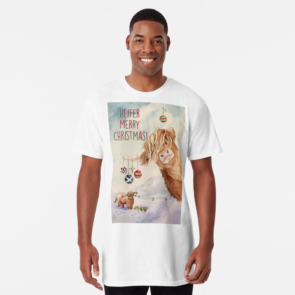 Heifer Merry Christmas! Long T-Shirt