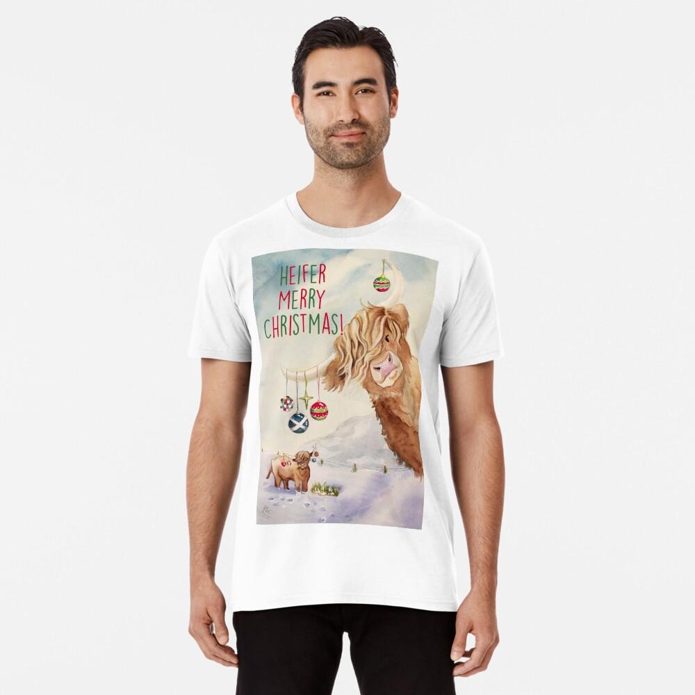 Heifer Merry Christmas! Premium T-Shirt