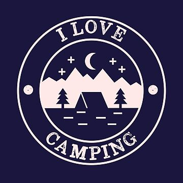 Distressed Vintage I love camping   by happinessinatee