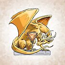 Birthstone Dragon: November Topaz Illustration by Stephanie Smith
