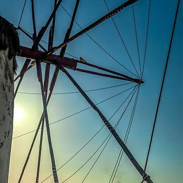 Mykonos Windmill Sunset by photograham