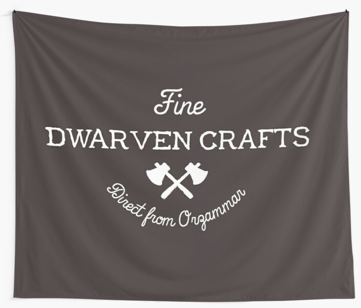 Fine Dwarven Crafts Direct From Orzammar Wall Tapestries By