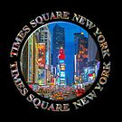 Times Square New York Badge Emblem (on black) by Ray Warren