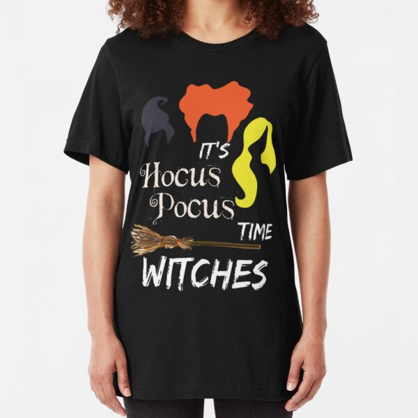It's Hocus Pocus Time Witches Tshirt Slim Fit T-Shirt