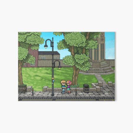York, UK Scot Pilgrim Inspired Pixel Art Art Board Print