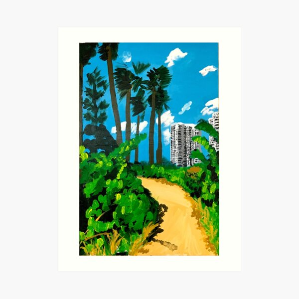 Walk to the Beach Art Print