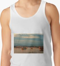 Dawn over the seaport Tank Top