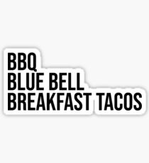 Texas Food Favorites Sticker