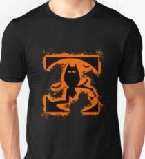 Bat halloween orange and black silhouette Unisex T-Shirt