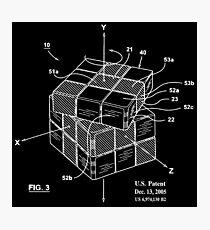 Rubiks Cube Puzzle Original Patent Print Photographic Print
