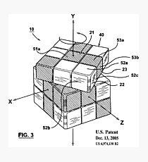 Patent Image Rubiks Cube Photographic Print