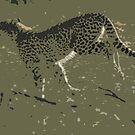 Cheetah running - Photo Art by Michael  Moss