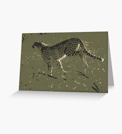 Cheetah running - Photo Art Greeting Card