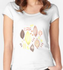 Abstract Watercolor Pattern Women's Fitted Scoop T-Shirt