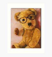 Jonathan - teddy bear portrait Art Print
