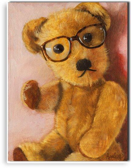 Jonathan - teddy bear portrait by LindaAppleArt