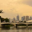 Melbourne from the Yarra by D-GaP