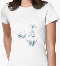 Space Sci Fi Toile  Women's Fitted T-Shirt