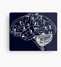 Soccer on the Brain Metal Print