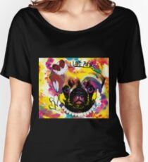 I love pugs - funny pug in color Women's Relaxed Fit T-Shirt