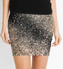 Sparkling GOLD BLACK Lady Glitter #3 #decor #art Mini Skirt
