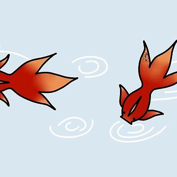 Peaceful Goldfish by rainbowcho