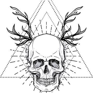 Skull with horns by varka