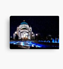 The Church Of Saint Sava Belgrade Canvas Print