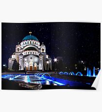 The Church Of Saint Sava Belgrade Poster
